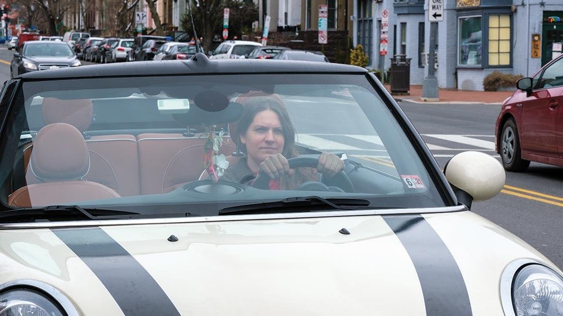 Woman Driving Mini